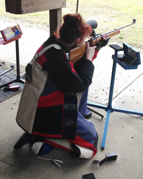 CCSSEF Jr. Rifle Team - Female Shooter - Kneeling