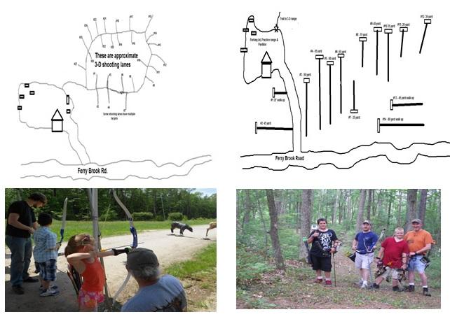 (L) McKenzie 3-D targets, (R) Field Archery Course