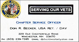 Don Becker - Chapter Service Officer, Disabled American Veterans